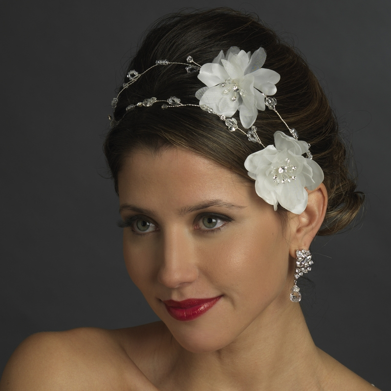 Headpieces For Wedding: White Flower Bridal Headpiece