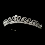 * Royal Kate Middleton Inspired Halo Silver Tiara 8429