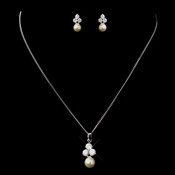 Pearl & CZ Jewelry Set 8720