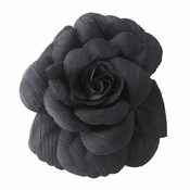 * Black Flower Hair Clip with Brooch Pin 480