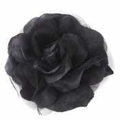 * Black Flower Hair Clip 482 (1 left)