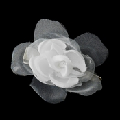 * Petite Organza & Matte Satin Flower Bridal Hair Clip 2628
