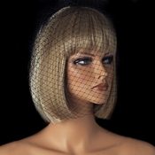 Single Layer Black Russian Birdcage Face Veil for Weddings Cocktail Parties & More! V Cage 900