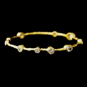 Gold Clear CZ Bangle Bracelet 2742