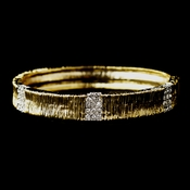 Gold Bangle Bridal Rhinestone Bracelet 7013