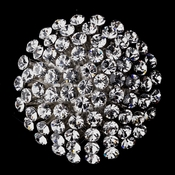 * Antique Silver Rhinestone Brooch 164