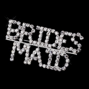Silver and Rhinestone Bridesmaid Brooch 9000