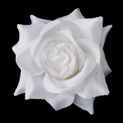 * White Flower Hair Clip 481 with Brooch Clip