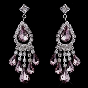 Silver Light Amethyst Chandelier Earrings 24792