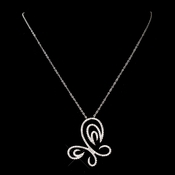 Swirl Butterfly CZ Necklace 8724