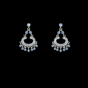 * Earring 20377 Silver Light Blue