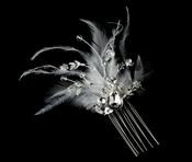 Feather Bridal Comb 8395