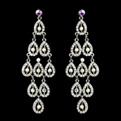 Silver Clear AB Earring Set 8487