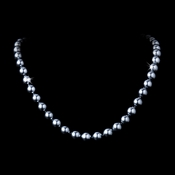 """* Elegant 30"""" Knotted Platinum Gray Pearl Necklace N 8340"""