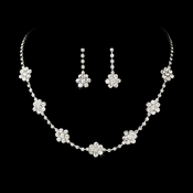 * Necklace Earring Set 70156 Silver Clear