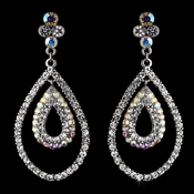 Dewdrop Hoop AB Crystal Earrings E 986