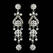 Silver Clear Earring Set 1033