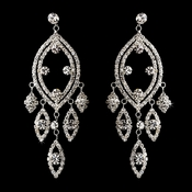 Silver Clear Earring Set 8529