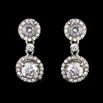 Vintage Crystal Drop Earrings E 934