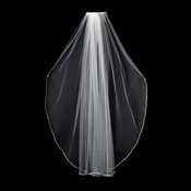 "VSW 1E Diamond White - Swarovski Rhinestone Edge Veil, Single Layer Elbow Length Veil (30"")"