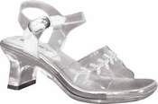 Childrens Anna Clear Shoes with White Accent