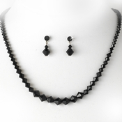 * Necklace Earring Set NE 231 Black