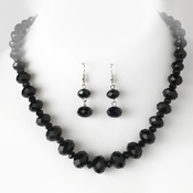 Necklace Earring Set 1017 Black