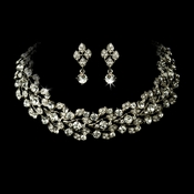 Elegant Vintage Crystal Jewelry Set NE 1022