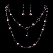 Necklace Earring Set 1040 Amethyst