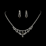 * Necklace Earring Set 340 Grey