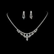 * Necklace Earring Set 340 Silver AB