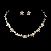 * Necklace Earring Set 393 Silver AB