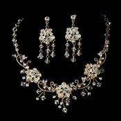 Stunning Swarovski Crystal Jewelry Set NE 6522 Gold