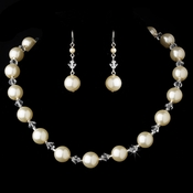 Necklace Earring Set NE 8355 Ivory