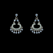Earring 20377 Silver Blue Multi