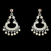 Silver AB Rhinestone Earrings E 20377