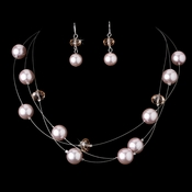 Necklace Earring Set NE 8362 Pink