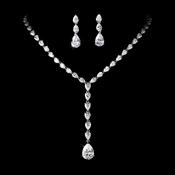 Glistening Rhinestone Embellished Necklace & Earring Jewelry Set E 2770 & N 2534