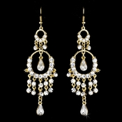 * Exquisite Gold Chandelier Earrings E 801