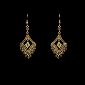 Earring 20381 Gold Light Brown