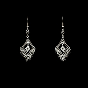 Earring 20381 Silver Black