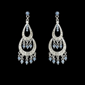* Earring 804 Silver Light Blue