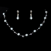 * Necklace Earring Set 207 Light Blue **2 Left**