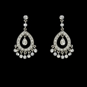Silver Chandelier Earrings E6191-S **2 left**