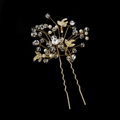 * Crystal and Rhinestone Hair Pin 6268