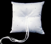 Ring Bearer Bridal Pillow accented with Pearl & Rhinestones RP 92