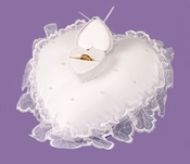 Heart Bridal Ring Bearer Pillow with Ring Box RP 422