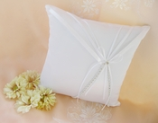 Ring Bearer Bridal Pillow Accented with Rhinestone & Ribbon RP 16