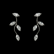 * Alluring Silver Clear CZ Vine Earrings 3522**2 left**