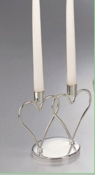 Double Heart Candle Holder Centerpiece 19399